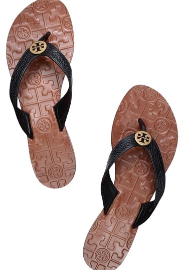 Preload https://item1.tradesy.com/images/tory-burch-black-thora-tumbled-leather-sandals-size-us-8-regular-m-b-21573520-0-1.jpg?width=440&height=440