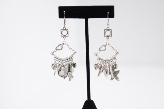 Hand Made Vintage Earrings Silver tone