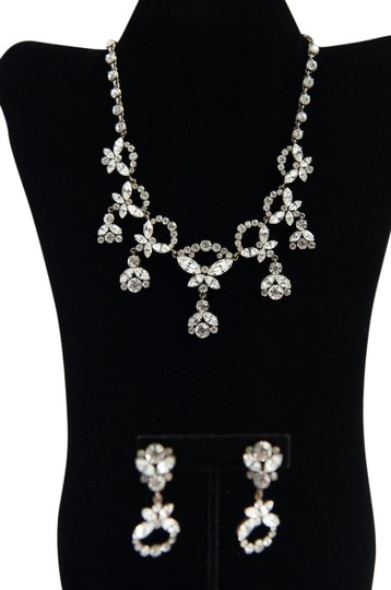 Preload https://img-static.tradesy.com/item/21573643/silver-tone-brass-vintage-and-earrings-with-crystals-rhinestone-necklace-0-1-540-540.jpg
