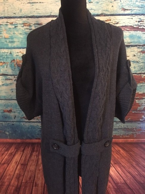 Michael Kors Sweater Coat Vest Navy Blue Jacket