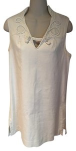 Mayle short dress cream Linen Shift Sheath on Tradesy