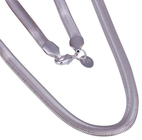 Other New 925 Sterling Silver Lovely Flat Soft Snake Bone Chain necklace 6mm