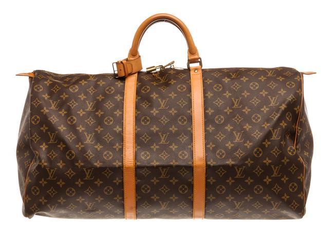 Item - Duffle Keepall 60 Cm Luggage Brown Monogram with Gold Tone Hardware Canvas and Leather Laptop Bag