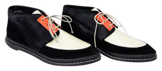 Preload https://item5.tradesy.com/images/pollini-black-ivory-and-orange-leather-suede-contrast-panel-color-lace-up-ankle-bootsbooties-size-us-21574149-0-1.jpg?width=440&height=440