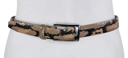 Preload https://item4.tradesy.com/images/beige-and-black-snake-leather-w-silver-buckle-belt-21574243-0-4.jpg?width=440&height=440