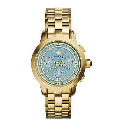 Preload https://img-static.tradesy.com/item/21574469/tory-burch-gold-blue-chronograph-trb1021-watch-0-0-540-540.jpg
