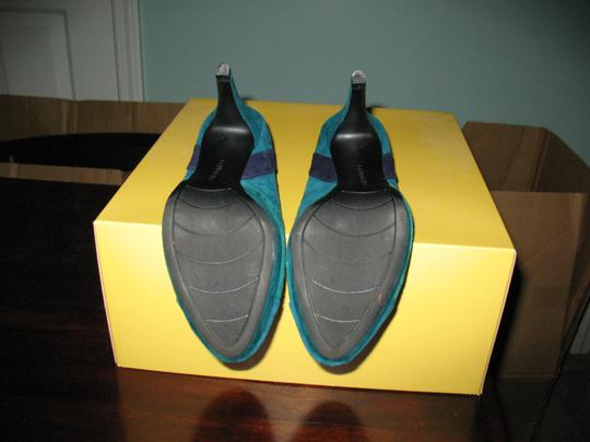 Bandolino Suede Leather Teal Pumps