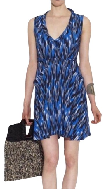 Preload https://item1.tradesy.com/images/thakoon-black-and-blue-ikat-sleeveless-short-workoffice-dress-size-6-s-21574530-0-1.jpg?width=400&height=650