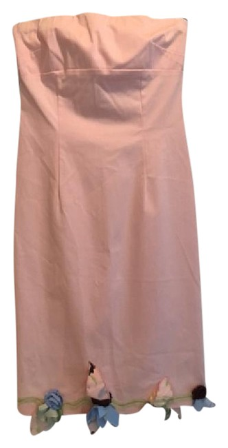 Preload https://img-static.tradesy.com/item/21574573/pale-pink-style-a4955-mid-length-cocktail-dress-size-4-s-0-3-650-650.jpg