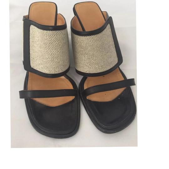 Hermès Wedges Pumps Black and Beige Sandals