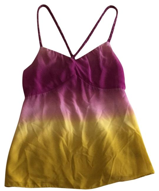 The Limited Top Purple to mustard Ombr.