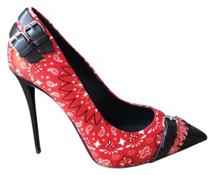 Giuseppe Zanotti black red white Pumps