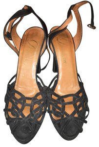 Delman Black Sandals