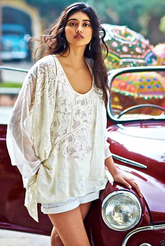 70d54e74077b4d Anthropologie Ivory High Low Lace Tank Top Cami Size 6 (S) - Tradesy