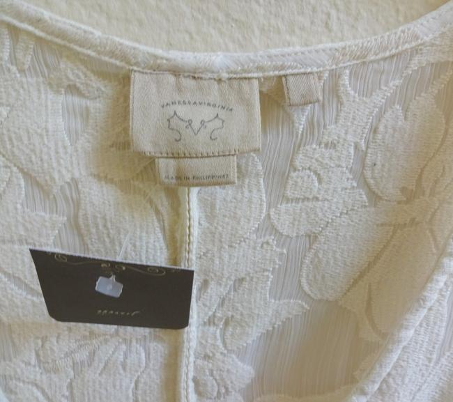 Anthropologie Casual Or Special Versatile Top NWT Ivory