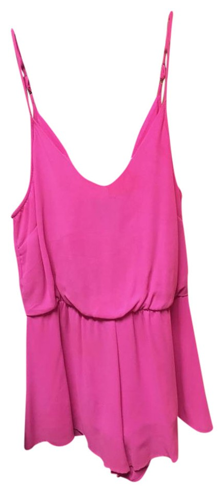 ede6d0fdc62a Lush Hot Pink Romper Jumpsuit - Tradesy