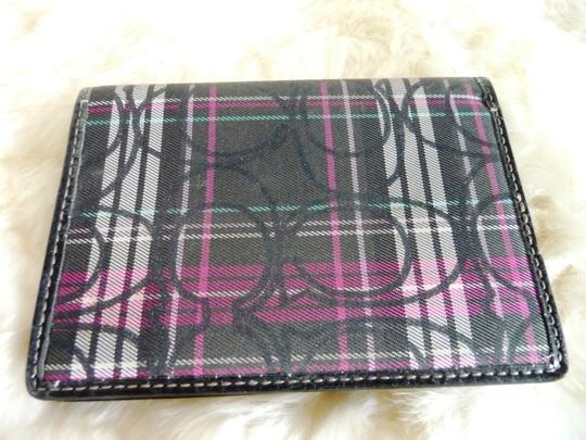 Coach Coach Plaid Monogram Bi-Fold Wallet