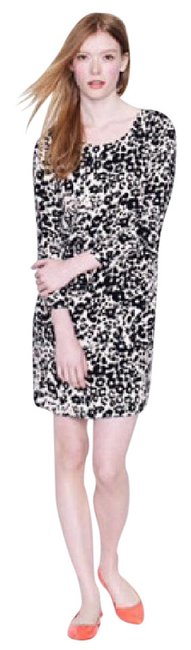 Preload https://item2.tradesy.com/images/jcrew-cream-and-black-nwot-jules-snowcat-mid-length-workoffice-dress-size-2-xs-21574951-0-1.jpg?width=400&height=650