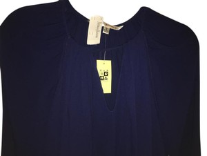 Max Studio Top Navy-purple hue