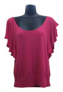 Express Spring Summer Casual Knit Stretch Top Pink