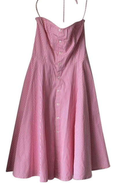 Preload https://img-static.tradesy.com/item/21575007/ralph-lauren-pink-white-striped-derby-mid-length-cocktail-dress-size-4-s-0-1-650-650.jpg