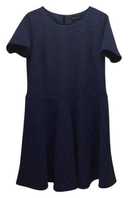 Preload https://img-static.tradesy.com/item/21575058/blue-and-dark-blue-waisted-skater-mid-length-workoffice-dress-size-20-plus-1x-0-1-650-650.jpg