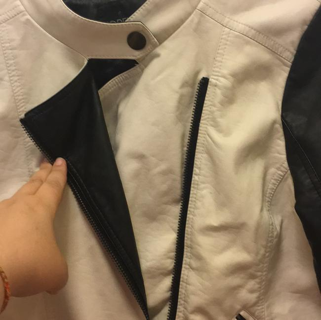 Forever 21 black and white Leather Jacket