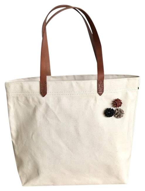 Item - Pins Transport Ivory Canvas Tote