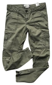 Abercrombie & Fitch Stretch Pants Cargo Jeans-Distressed