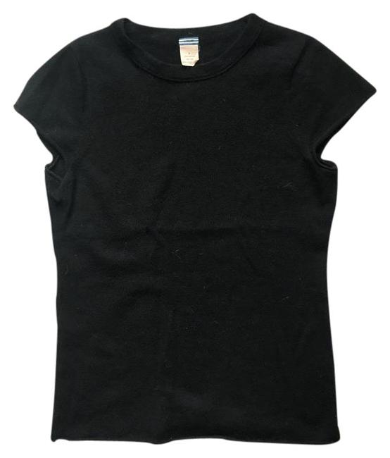 Preload https://item1.tradesy.com/images/jcrew-black-cashmere-sweater-tee-shirt-size-2-xs-21575185-0-1.jpg?width=400&height=650