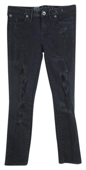 Preload https://item3.tradesy.com/images/madewell-black-distressed-skinny-jeans-size-25-2-xs-21575187-0-1.jpg?width=400&height=650