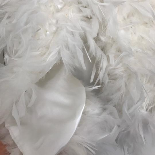 Bridal Feather Shoulder Wrap - Satin underside feather