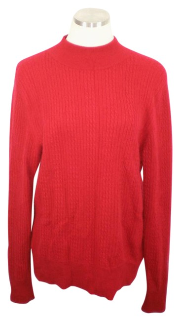 Preload https://item1.tradesy.com/images/red-mock-neck-cashmere-sweaterpullover-size-14-l-21575315-0-1.jpg?width=400&height=650