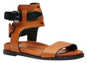 Calvin Klein Leather Casual Summer Brown Sandals
