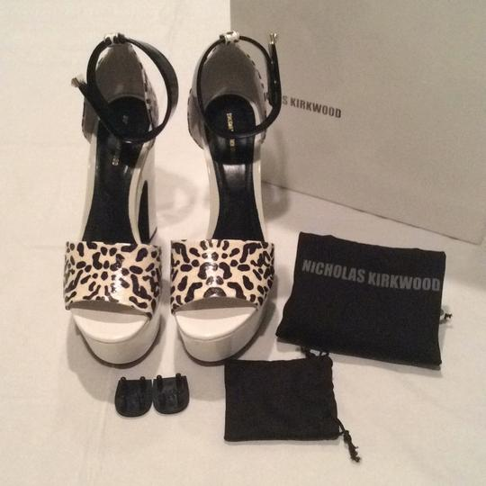 Nicholas Kirkwood White and Black Platforms