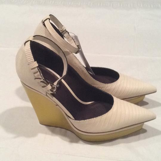 Calvin Klein Collection Chalk/Yellow Platforms