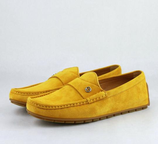 Gucci Yellow Suede Leather Loafer W/Interlocking G 9.5g / Us 10 386587 7008 Shoes