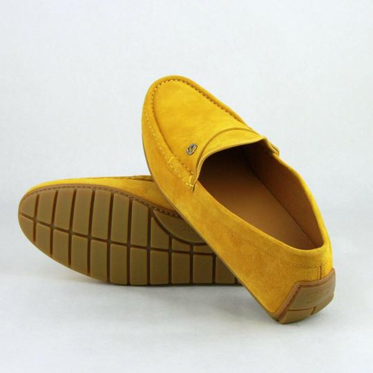 Gucci Yellow Suede Leather Loafer W/Interlocking G 8.5g / Us 9 386587 7008 Shoes