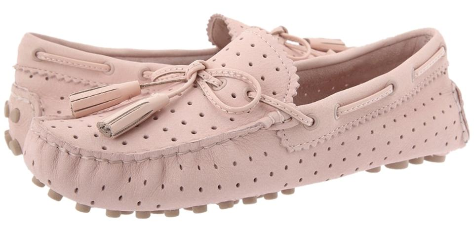 eda47d4a09c59 Coach Nadia Pink Driving Moccasin Perforated Peach Rose Flats Image 0 ...