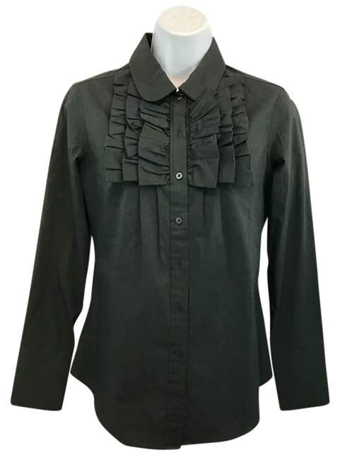 Preload https://img-static.tradesy.com/item/21575623/black-stretchy-cotton-blend-blouse-2-button-down-top-size-6-s-0-1-650-650.jpg