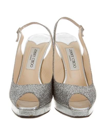 Jimmy Choo 9.5 Silver Pumps