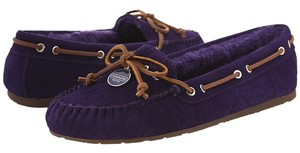 Coach Antonia Suede Royal Purple Flats