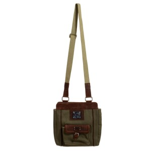 Versace Jeans Collection Olive Green / Brown Messenger Bag