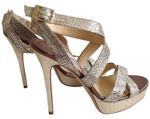 Jimmy Choo Gold/Champagne Sandals