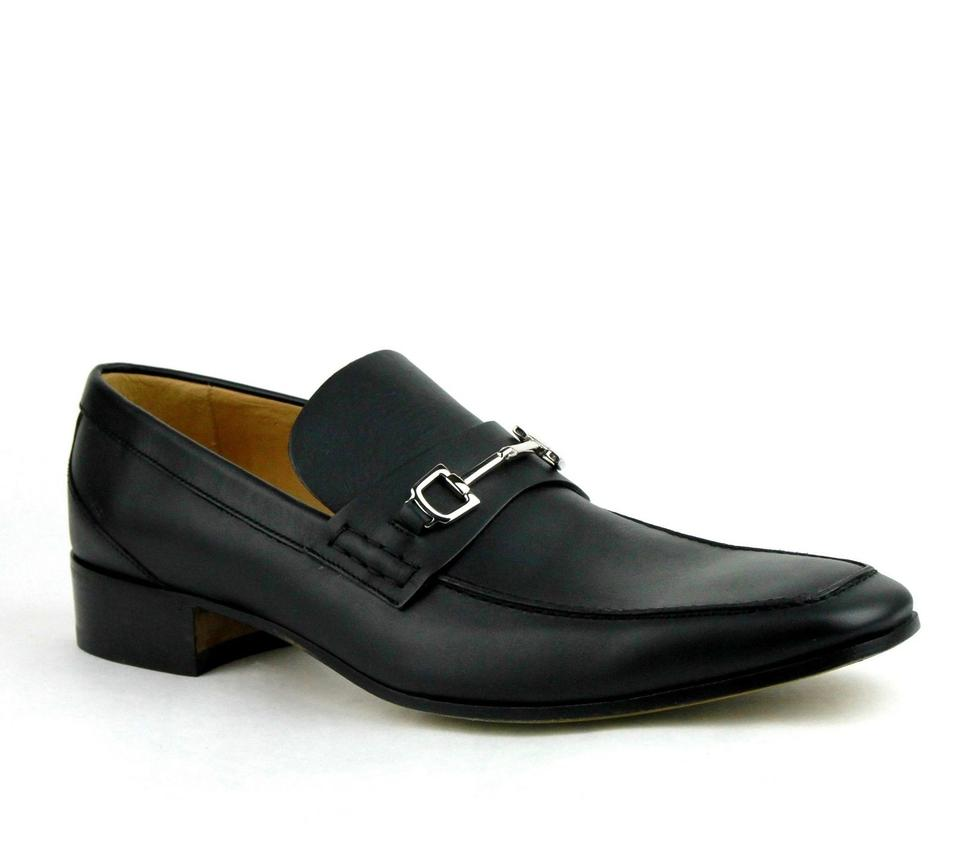 30590521cd5 Gucci Black Horsebit Leather Loafer W Silver 13.5   Us 14.5 256345 Shoes ...