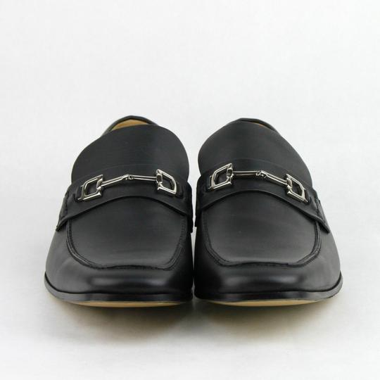 Gucci Black Horsebit Leather Loafer W/Silver 13.5 / Us 14.5 256345 Shoes