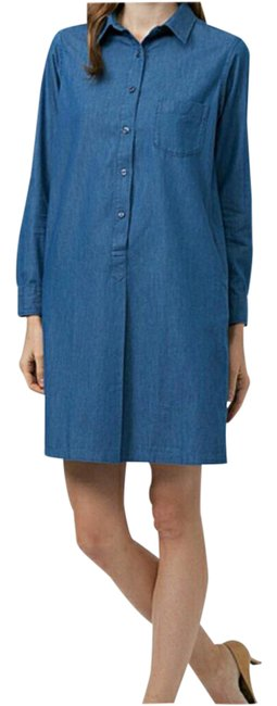 Preload https://item4.tradesy.com/images/uniqlo-blue-nwot-chambray-mid-length-short-casual-dress-size-2-xs-21576038-0-3.jpg?width=400&height=650