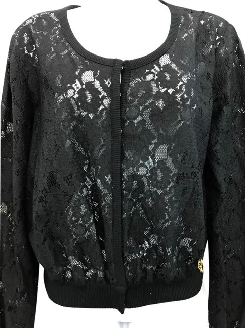 Preload https://item1.tradesy.com/images/dolce-and-gabbana-black-lace-cardigan-size-10-m-21576100-0-1.jpg?width=400&height=650