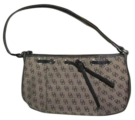 Preload https://item2.tradesy.com/images/dooney-and-bourke-signature-black-gray-canvas-leather-baguette-21576146-0-1.jpg?width=440&height=440