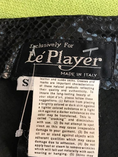Le Player Vintage Italy Leather Dress